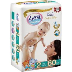 Пелени Lara Premium №2 3-6 кг х60 бр