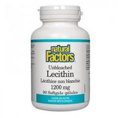 Natural Factors Lecithin Лецитин за здрав черен дроб 1200 мг х 90 софтгел капсули