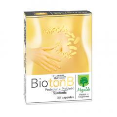 Bioton B синбиотик за перфектен баланс на чревната микрофлора 30 капсули Magnalabs