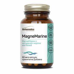 Herbamedica Magne Marine Натурален морски магнезий за нервната система и мускулите 350 мг х60 капсули