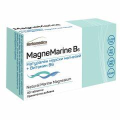 Herbamedica Magne Marine В6 Натурален морски магнезий + витамин В6 за нервната система и мозъка х30 таблетки