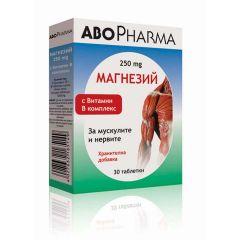 AboPharma Магнезий 250мг + Витамин B комплекс  х30 таблетки