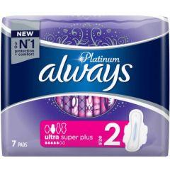 Always Platinum Ultra Super Plus Дамски превръзки x7 бр