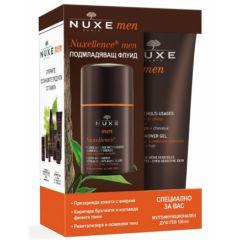 Nuxe Men Nuxellence Подмладяващ флуид 50 мл + Подарък: Nuxe Men Душ-гел за коса и тяло 100 мл Комплект