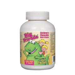 Natural Factors Big Friends Chewable Multi Vitamins Мултивитамини за деца 238 мг х 60 дъвчащи таблетки
