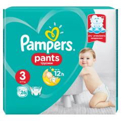 Пелени - гащички Pampers Pants Размер 3 Midi 26 бр