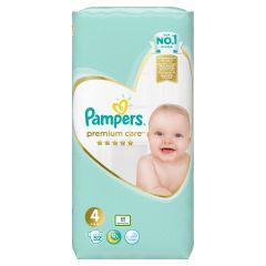 Пелени Pampers Premium Care Размер 4 Maxi 52 бр