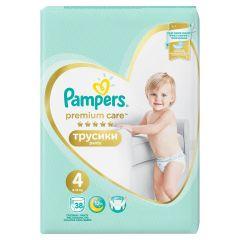 Пелени - гащички Pampers Premium Care Pants Размер 4 38 бр