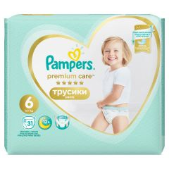 Пелени - гащички Pampers Premium Care Pants Размер 6 31 бр