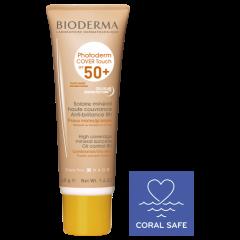 Bioderma Photoderm Cover Touch Минерален слънцезащитен тониран крем SPF50+ Златист нюанс 40 мл