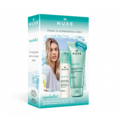 Nuxe Aquabella Хидратираща емулсия 50 мл + Nuxe Aquabella Микроексфолиращ почистващ гел 150 мл Комплект