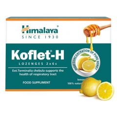 Himalaya Koflet-H Lemon Кофлет-Н  бонбони с aромат на лимон 12 броя
