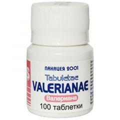 Valerianae Валериана при безсъние и стрес х 100 таблетки Панацея 2001