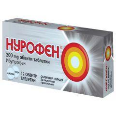 Нурофен облекчава болката 200 мг х12 таблетки