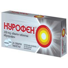 Нурофен облекчава болката 200 мг х24 таблетки