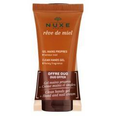 Nuxe Reve de Miel Почистващ гел за ръце 30 мл + Nuxe Reve de Miel Подхранващ крем за ръце и нокти 30 мл Комплект