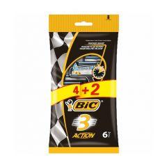 Bic 3 Аction Самобръсначка за мъже пакет x4+2 бр