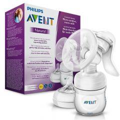Ръчна помпа за кърма Comfort Avent Philips + Avent Natural Шише с биберон с една дупка 0М+ 125 мл + Avent Еднократни подплънки Ден и Нощ 2 бр Комплект