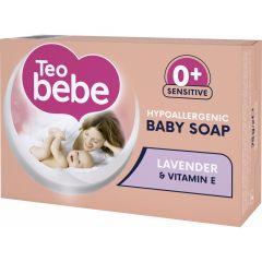 Teo Bebe Бебешки крем-сапун с екстракт от лавандула 0+ месеца 75 гр