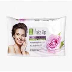 Nature of Agiva Make up Дегримиращи мокри кърпички за чувствителна кожа с розово масло x20 бр