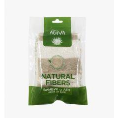 Agiva Massage Лента за баня от бамбук и лен