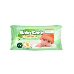 Baby Care Chamomile Бебешки мокри кърпи с екстракт от лайка x72 бр