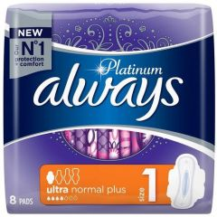 Always Platinum Ultra Normal Plus Дамски превръзки x8 бр