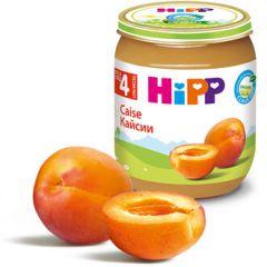 Hipp био пюре кайсии 4М+ 125 гр