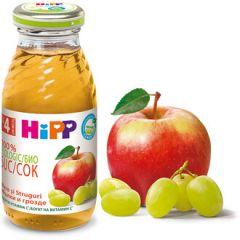 Hipp Био сок ябълка и грозде 4М+ 200 мл