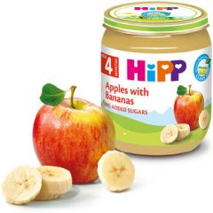 Hipp био пюре ябълка с банан 4М+ 125 гр