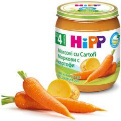 Hipp био пюре ранни моркови с картофи 4М+ 125 гр