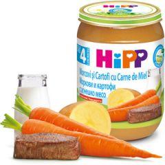 Hipp био пюре моркови, картофи и агнешко 4М+ 190 гр