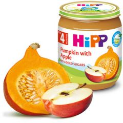 Hipp био пюре тиква с ябълки 4М+ 125 гр