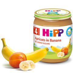 Hipp био пюре кайсии с банан 4М+ 125 гр