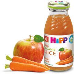 Hipp Био сок ябълки и моркови 4М+ 200 мл
