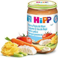 Hipp пюре спагети с домати, зеленчуци и риба 12М+ 220 гр