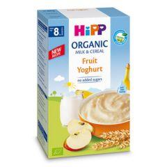 Hipp пребиотик инстантна каша плодове с йогурт 8М+ 250 гр