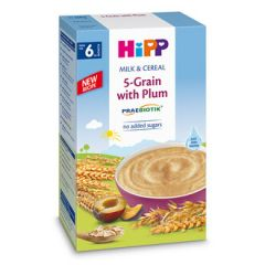 Hipp пребиотик инстантна каша 5 зърнени култури и сливи 6М+ 250 гр