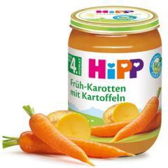 Hipp био пюре ранни моркови с картофи 4М+ 190 гр