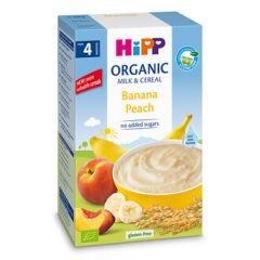 Hipp био инстантна каша банан и праскова 4М+ 250 гр