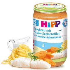 Hipp рибно меню спагети с морска треска от Аляска в зеленчуково-сметанов сос 12М+ 250 гр