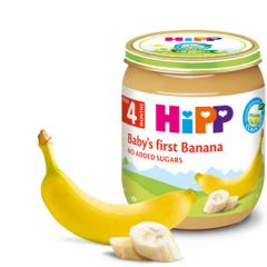 Hipp био пюре банан 4М+ 125 гр