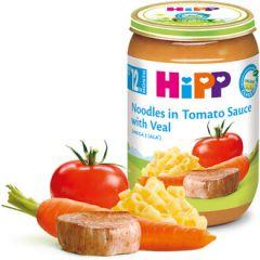 Hipp био макарони с доматен сос и телешко 12М+ 220 гр