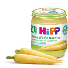 Hipp био пюре бял морков 4М+ 125 гр