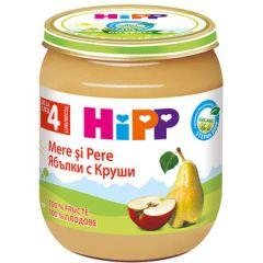 Hipp био пюре ябълки и круши 4М+ 125 гр