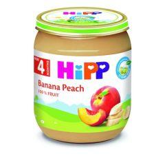 Hipp био пюре праскови и банани 4М+ 125 гр