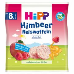 Hipp Himbeer Reiswaffeln оризови гризини с малина и ябълка 8М+ 30 гр
