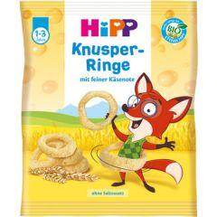 Hipp Knusper - Ringe био хрупкави кръгчета с твърдо сирене 25 гр