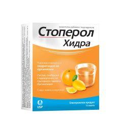 Стоперол Хидра при дехидратация с вкус на лимон и портокал x12 сашета US Pharmacia