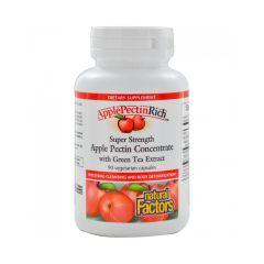 Natural Factors ApplePectinRich Apple Pectin Concentrate Ябълков пектин концентрат при наднормено тегло 500 мг х 90 капсули